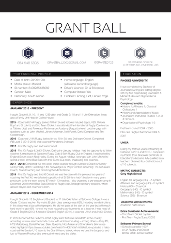 How to create the resume
