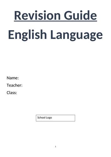 GCSE English Language Glossary