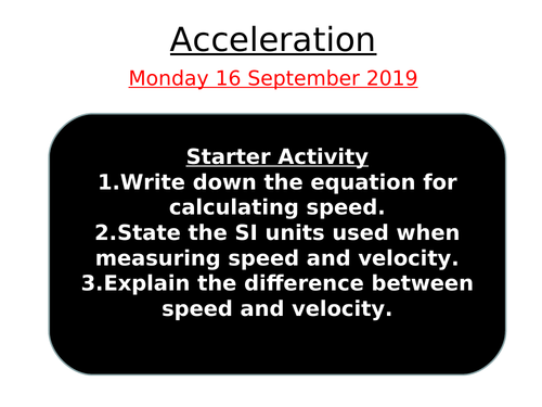 Acceleration and Graphing speed
