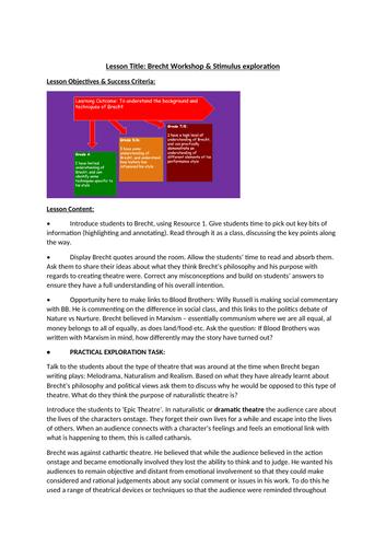 Introduction to Brecht Complete Lesson Bundle