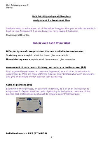 HSC - LEVEL 3 UNIT 14 COURSEWORK HELP