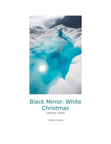 White Christmas Black Mirror Poster.A Grade Higher English Essay On Black Mirror Episode White