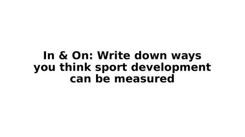 Unit 3 Sport Organisation LO3