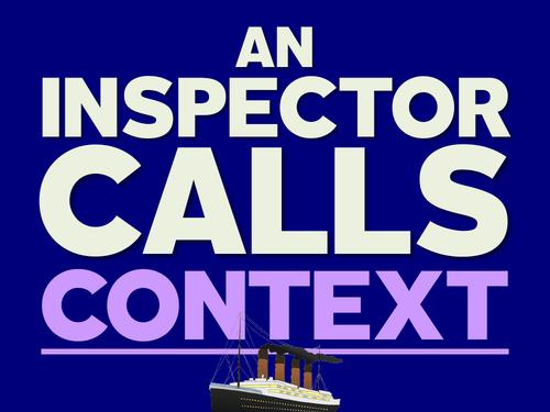 An Inspector Calls: Context