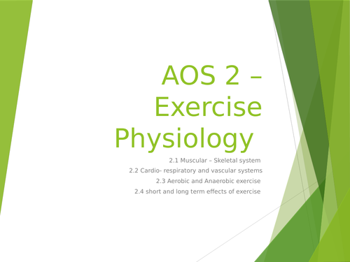 WJEC GCSE AOS2 Exercise Physiology