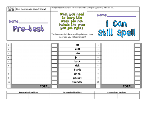 Spelling Scheme: Lower KS2 I Can Spell Year 3&4