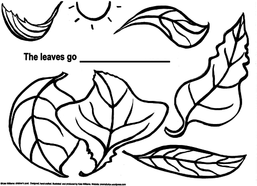 Autumn Leaves - Simple Writing  + Colouring Sheet