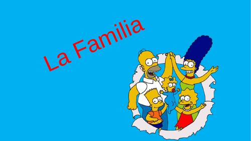 Starter - Plenary - Mi Familia - My Family - Spanish KS3