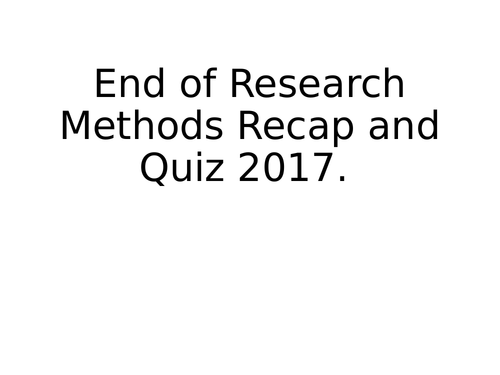 AQA GCSE Sociology - Research Methods - 10 Lessons