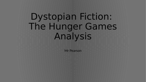 Dystopian Fiction Language Analysis