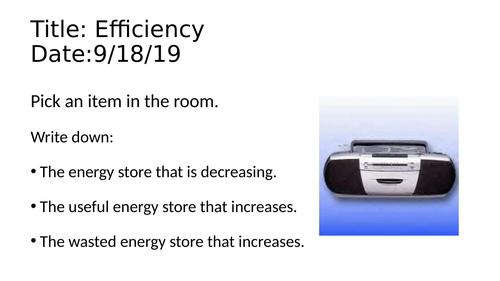 Efficiency - KS3 Physics / Science