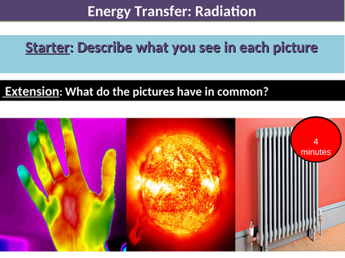 Energy transfer - heat / radiation