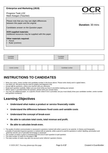 CAMNAT Enterprise and Marketing RO64 LO2 Progress Task