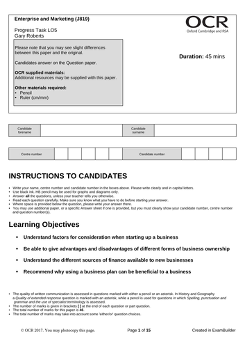 CAMNAT Enterprise and Marketing RO64 LO5 Progress Task