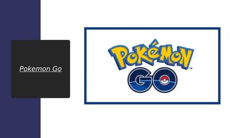 Media Studies: Pokemon Go Knowledge Organiser