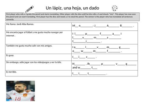 Spanish hobbies and free time with Jordi Alba Ramos