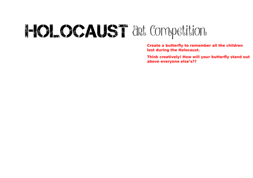 Holocaust Art Competition Template.