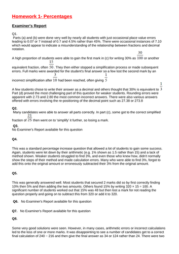 GCSE Foundation Homework Year 10
