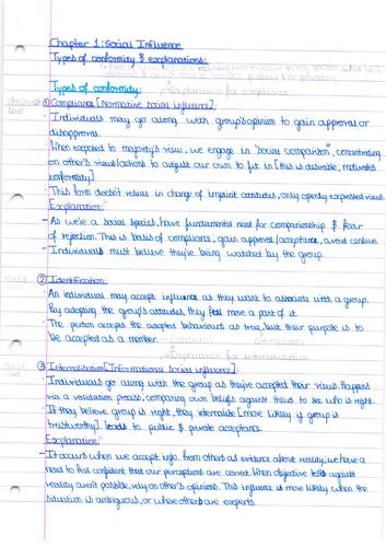 AQA AS Psychology: Social Influence