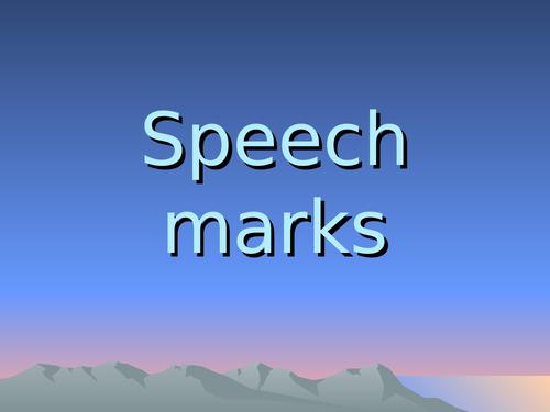 Inverted commas: speech marks