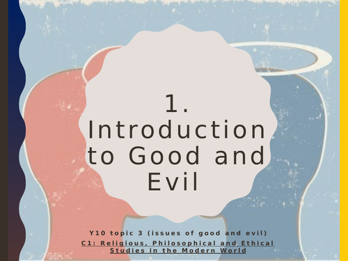 Eduqas GCSE Religious Studies Good and Evil Y9 workbook