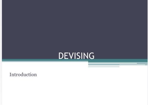 KS3  Drama Devising PPT 15 Lessons