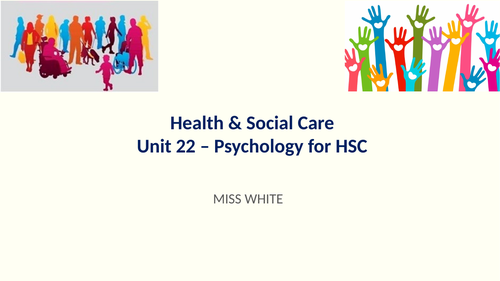 CTEC Health & Social Care Unit 22 Psychology Biological approach resources