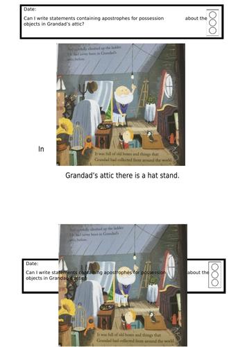 Grandad's island apostrophes - differentiated ks1/year 2