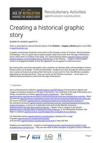 Creating a historical graphic story