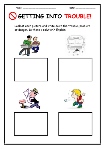 'Getting Into Trouble' Worksheet
