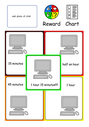 Home / School Reward Chart for ASC ASD SEND
