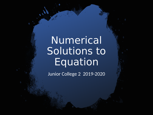 Numerical solutions of equations A level