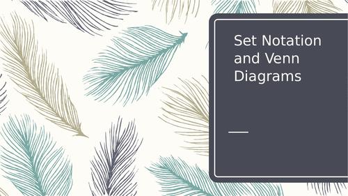 Set notation and Venn diagrams