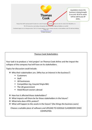 Thomas Cook - Stakeholder Task