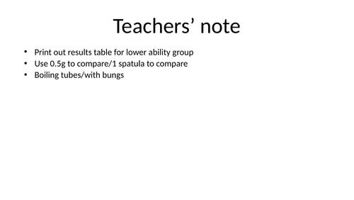 Edexcel GCSE solubility lesson Gd 1-4