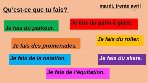 Year 7- Studio 1- French- Qu'est-ce que tu fais?