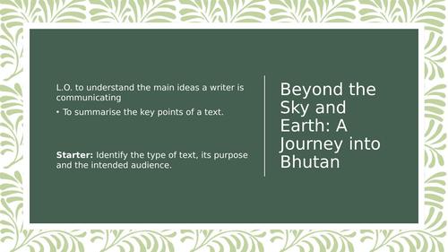 Beyond the Sky and Earth - Journey into Bhutan Analysis