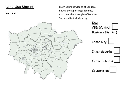 Blank London Land Use Map