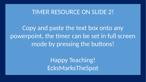 Powerpoint Classroom Timer