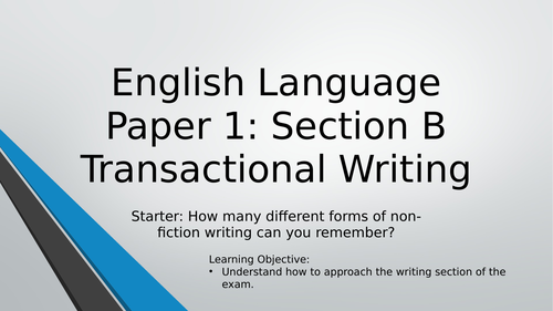 Transactional Writing - Exam Practice