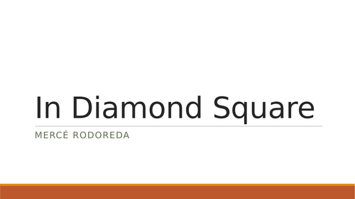 Summary SOW on In Diamond Square