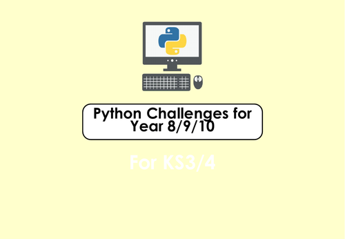 Python challenge exercises with solution for year 8/9/10