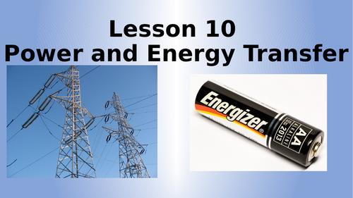 AQA Physics Power and Energy Transfers