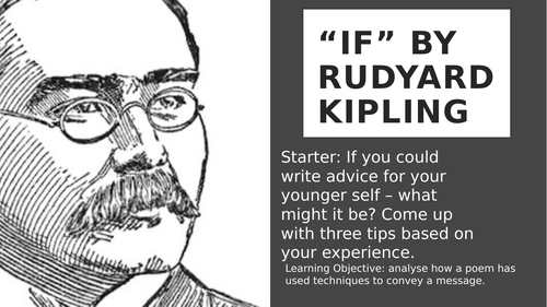 If - Rudyard Kipling Analysis Lesson