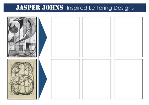 Jasper Johns Lettering Worksheet