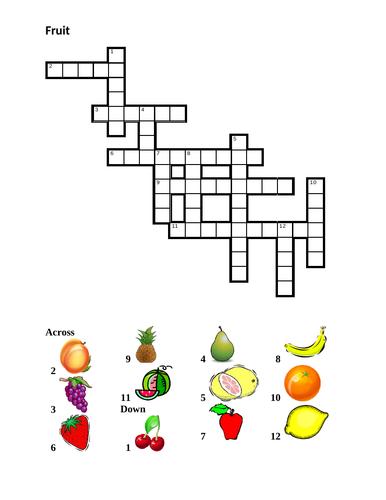 Fruit in English Crossword