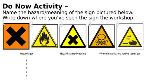 FREE Teaching Resource: COSHH Safety Starter Activity