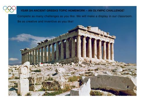 Year 3/4 Ancient Greeks Topic Homework