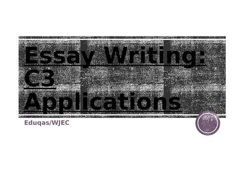 WJEC Eduqas A-Level Psychology Exam technique C3 Applications Workbook