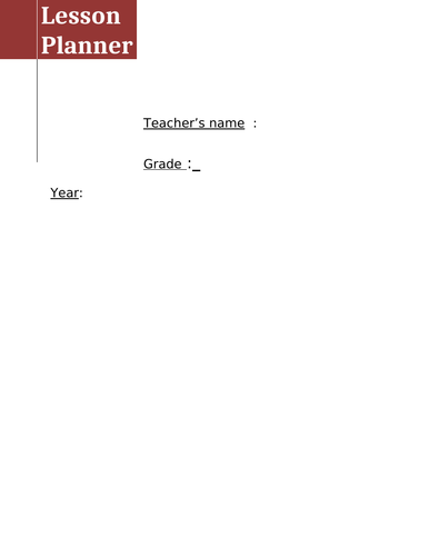 Mini Teachers Planner